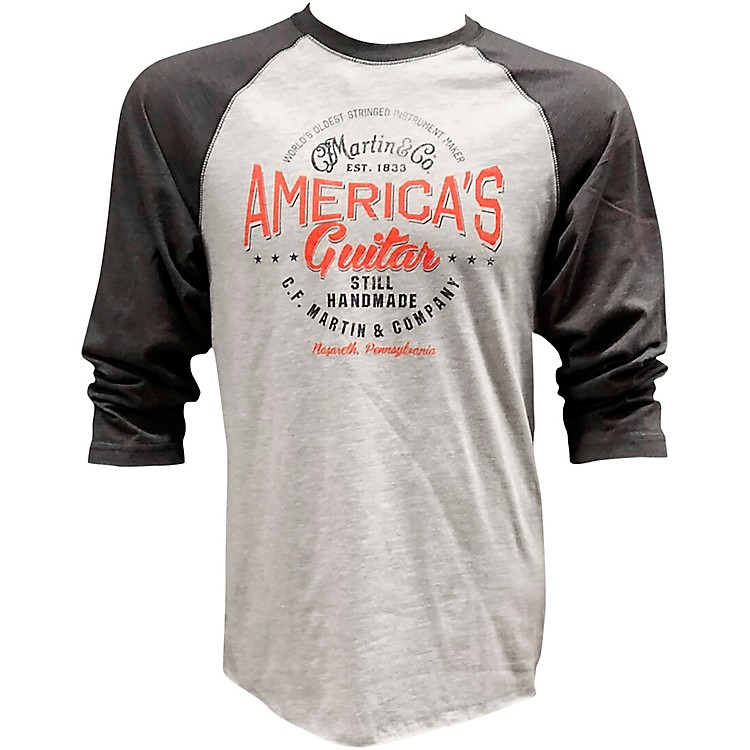 Martin Baseball Long Sleeve T-Shirt XX Large Heather Gray