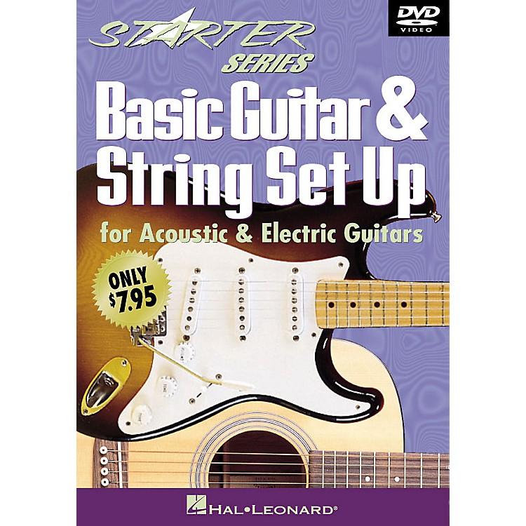 Hal LeonardBasic Guitar & String Set Up (Starter Series DVD) Starter Series (Video) Series DVD Written by Tom Kolb