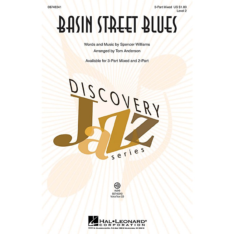 Hal Leonard Basin Street Blues (Discovery Level 2) 3-Part Mixed arranged by Tom Anderson