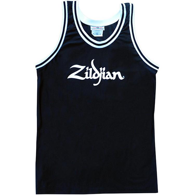 ZildjianBasketball JerseyBlackLarge