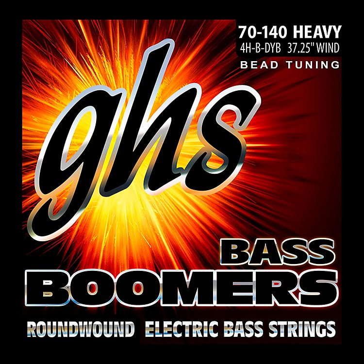 GHSBass Boomers Roundwound Bass Strings BEAD Tuning Heavy 70-140