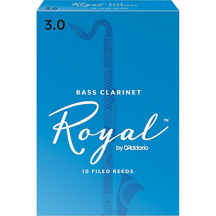 Rico Royal Bass Clarinet Reeds, Box of 10 Strength 3