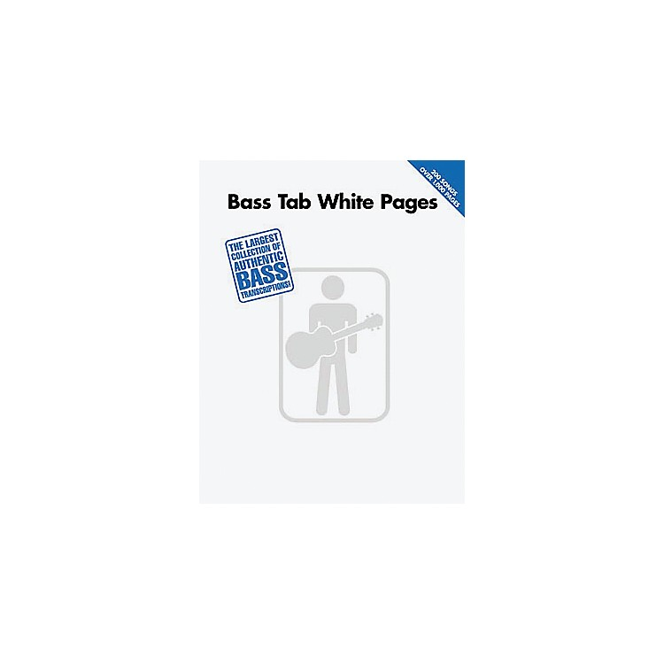 Hal Leonard Bass Tab White Pages Songbook