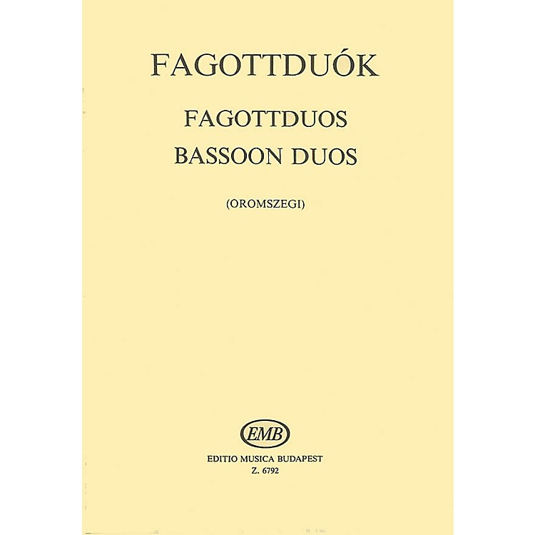 Editio Musica BudapestBassoon Duos EMB Series Composed by Various