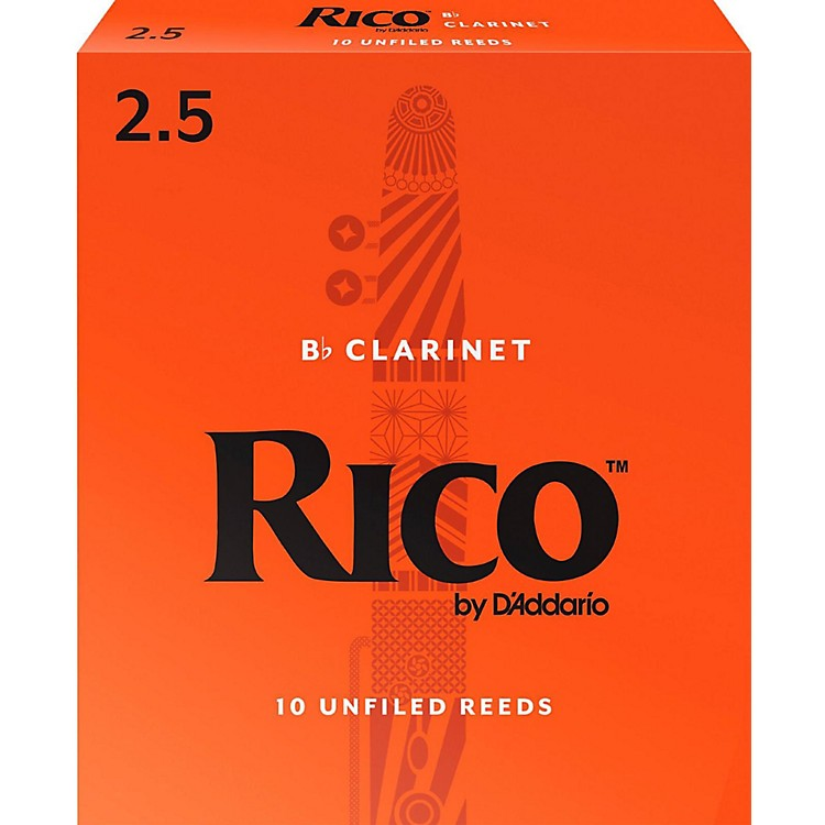 Rico Bb Clarinet Reeds, Box of 10 Strength 2.5