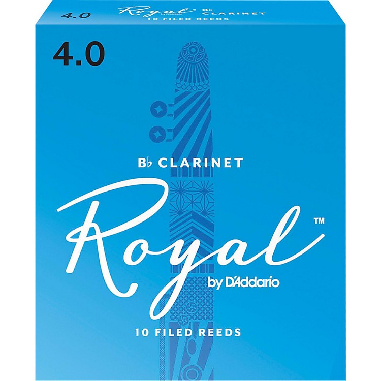 Rico Royal Bb Clarinet Reeds, Box of 10 Strength 4