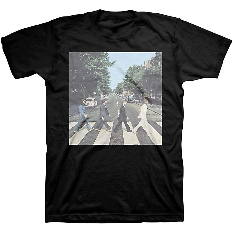 Bravado Beatles Abbey Road Mens T-Shirt Black Small
