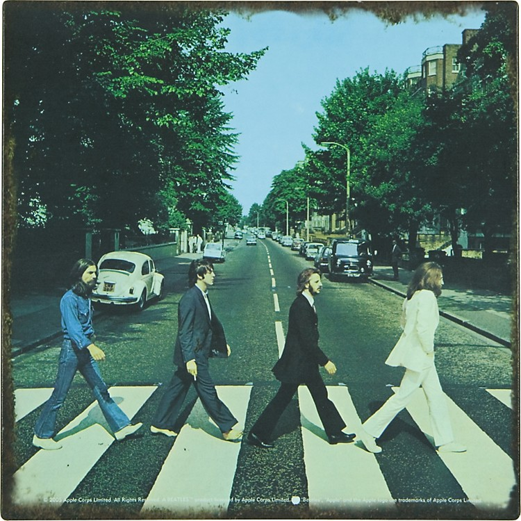 Gear OneBeatles Abbey Road Metal Sign