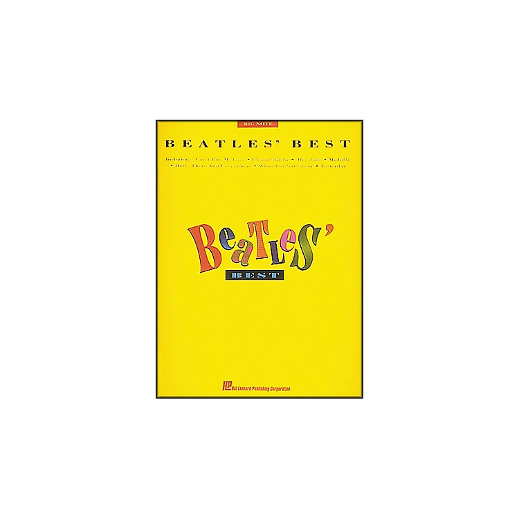 Hal Leonard Beatles' Best for Big Note Piano