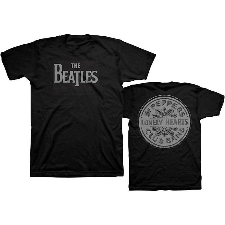 Bravado Beatles Lonely Hearts T-Shirt Black Large