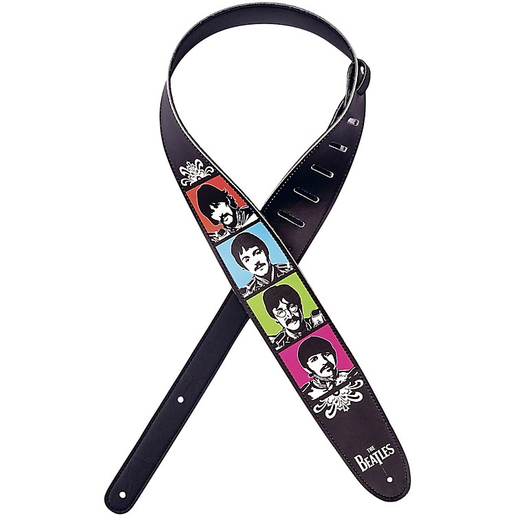 D'Addario Planet Waves Beatles Sgt Pepper Lonely Hearts Club Band 50th Anniversary Vegan Guitar Strap Sergeant Pepper's 2.5 in.