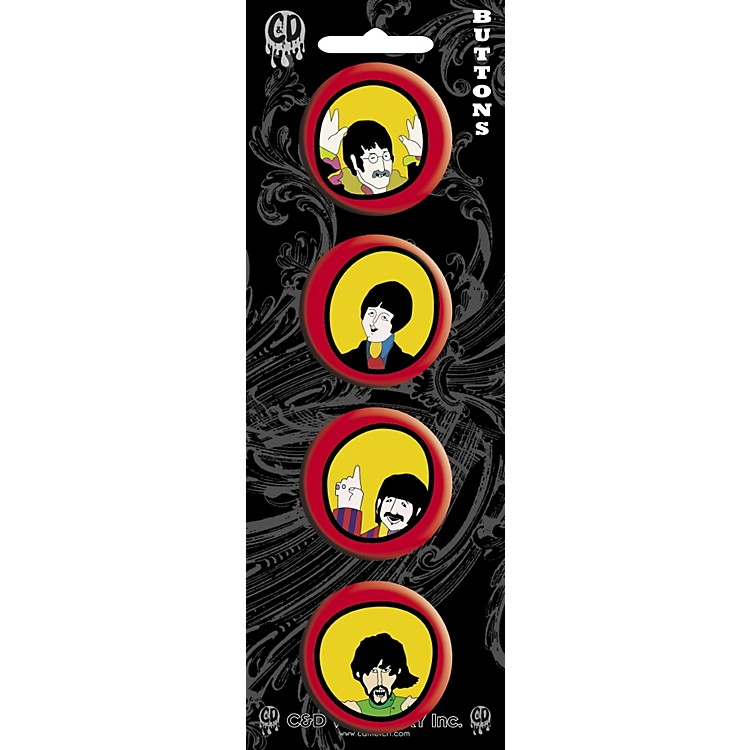 C&D Visionary Beatles Yellow Submarine Button set (4 piece)