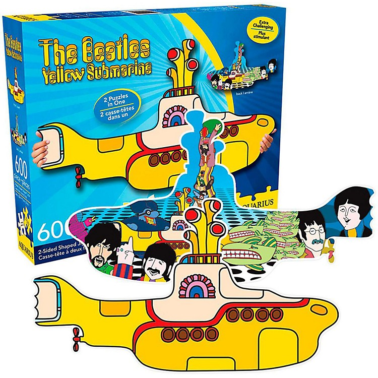 Hal Leonard Beatles Yellow Submarine Shaped 2-sided Puzzle