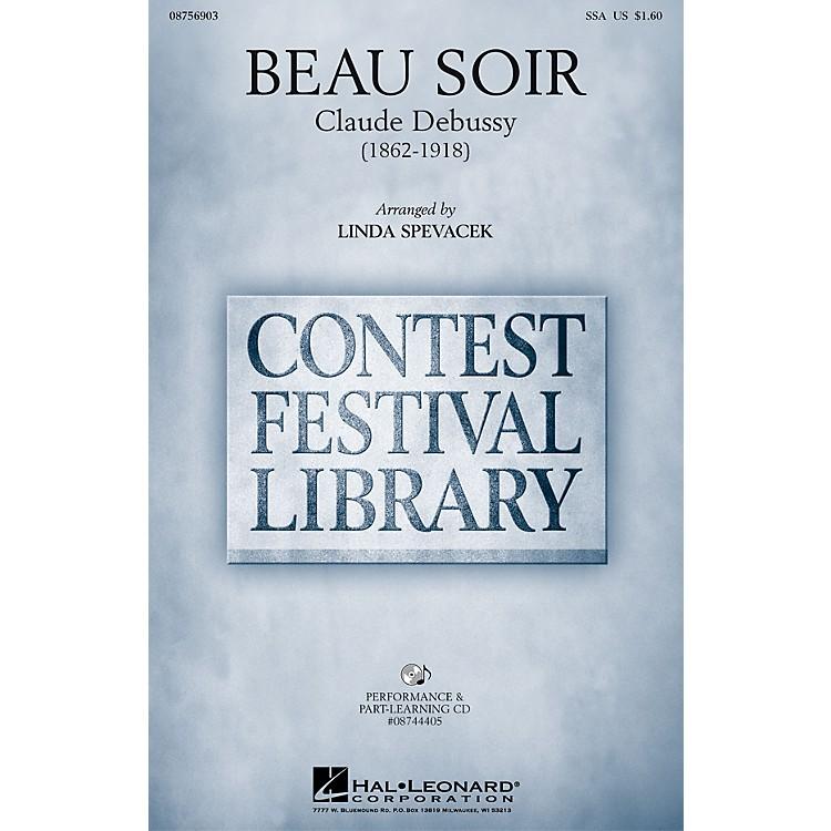 Hal LeonardBeau Soir SSA arranged by Linda Spevacek