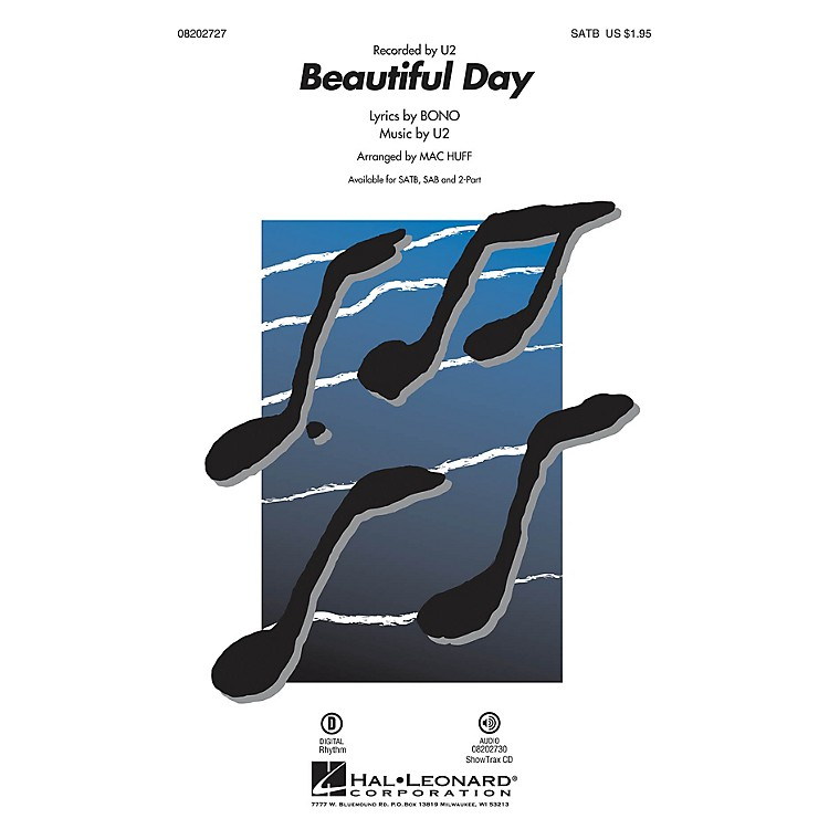 Hal Leonard Beautiful Day ShowTrax CD by U2 Arranged by Mac Huff