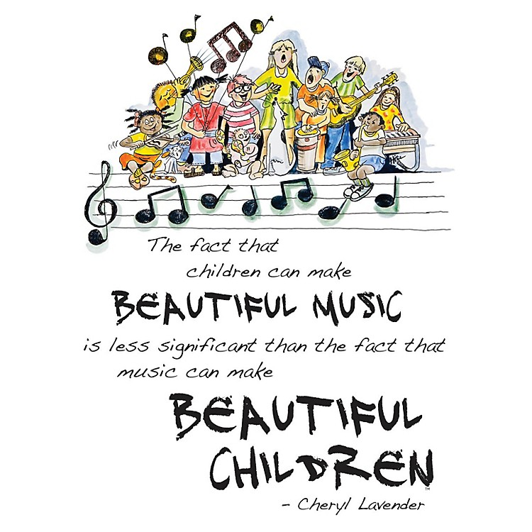 Hal LeonardBeautiful Music, Beautiful Children Poster (18x24 Framed Poster) Composed by Cheryl Lavender