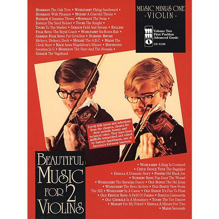 Music Minus OneBeautiful Music for 2 Violins Music Minus One Series Softcover with CD Edited by Samuel Applebaum