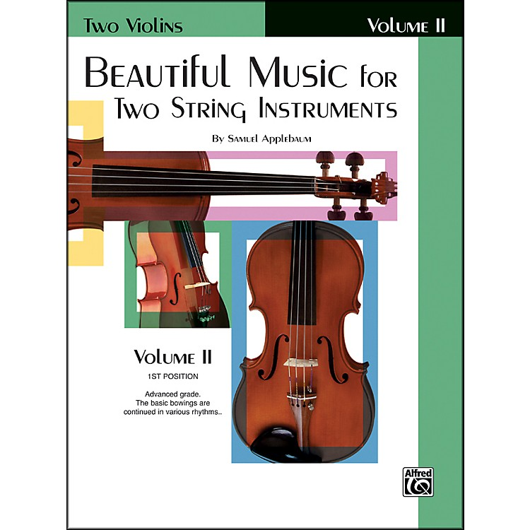 Alfred Beautiful Music for Two String Instruments Book II 2 Violins