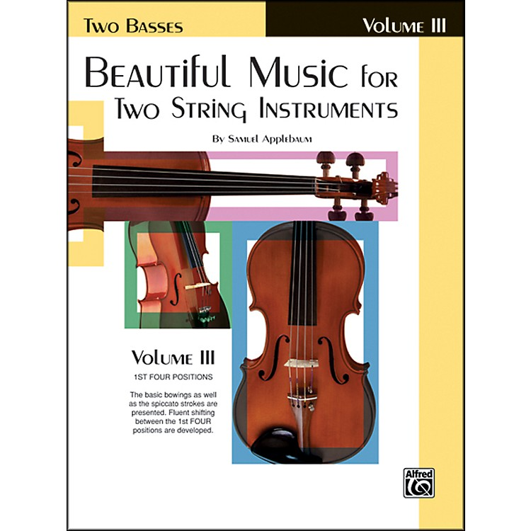 Alfred Beautiful Music for Two String Instruments Book III 2 Basses