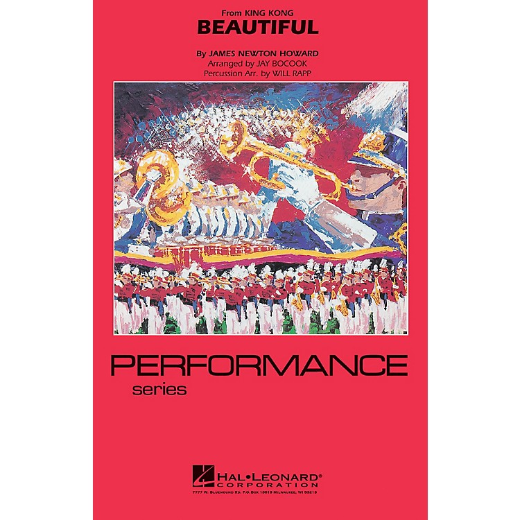 Hal Leonard Beautiful (from KING KONG) Marching Band Level 4 Arranged by Jay Bocook