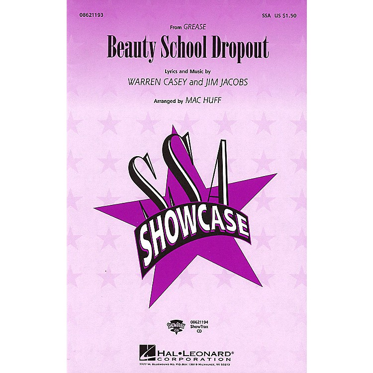 Hal LeonardBeauty School Dropout (from Grease) ShowTrax CD Arranged by Mac Huff