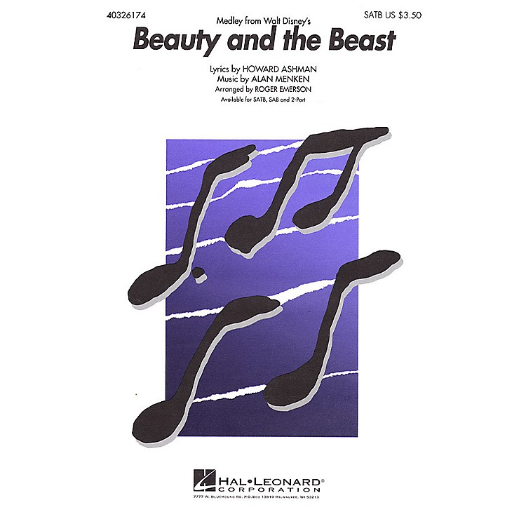 Hal LeonardBeauty and the Beast (Medley) ShowTrax CD Arranged by Roger Emerson