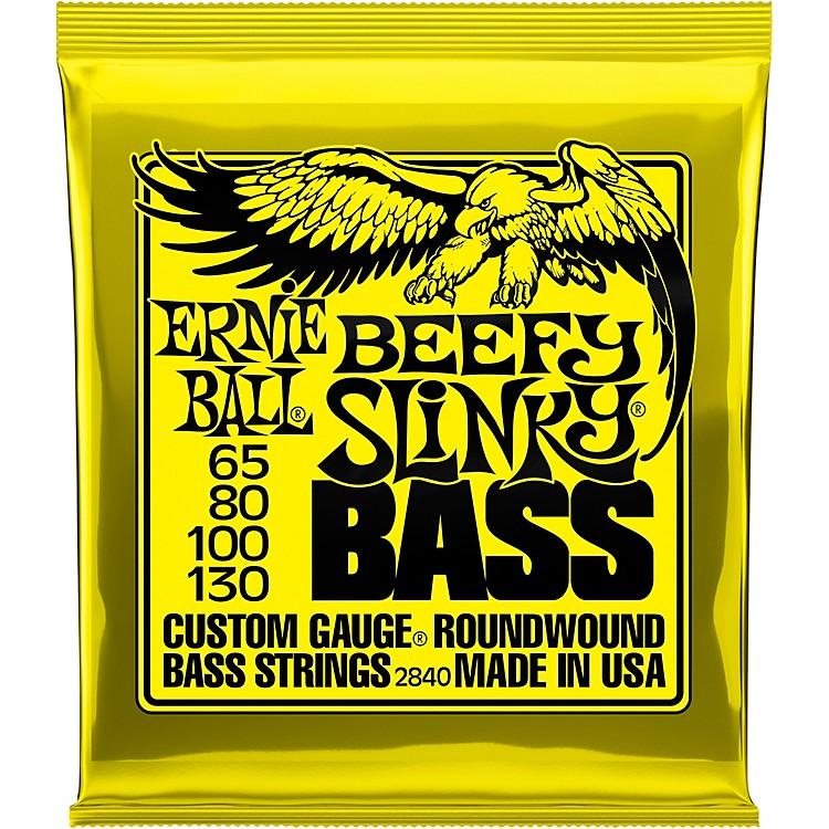 Ernie BallBeefy Slinky Nickel Wound Electric Bass Guitar Strings - 65-130 Gauge