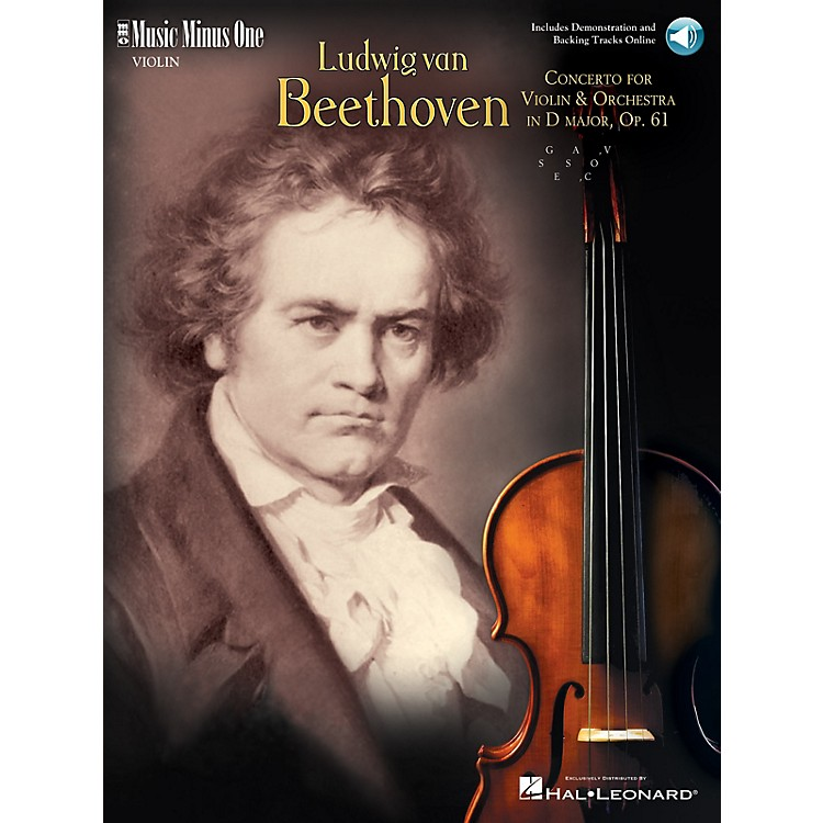 Music Minus OneBeethoven - Violin Concerto in D Major, Op. 61 (2-CD Set) Music Minus One Series Softcover with CD