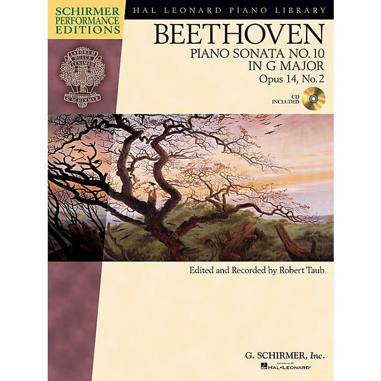 G. SchirmerBeethoven Sonata No 10 in G Maj Op 14 No 2 Schirmer Performance Edition BK/CD by Beethoven Edited by Taub