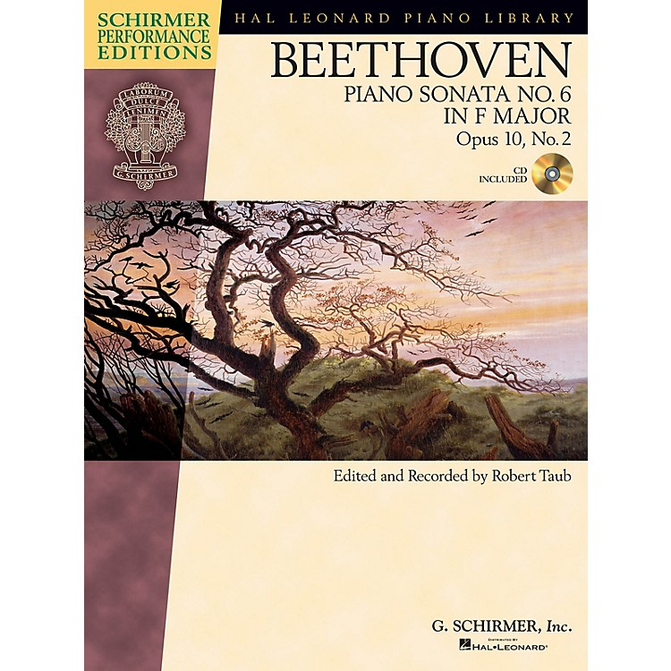 G. SchirmerBeethoven: Sonata No 6 in F Maj Op 10 No 2 Schirmer Performance Edition BK/CD by Beethoven Edited by Taub