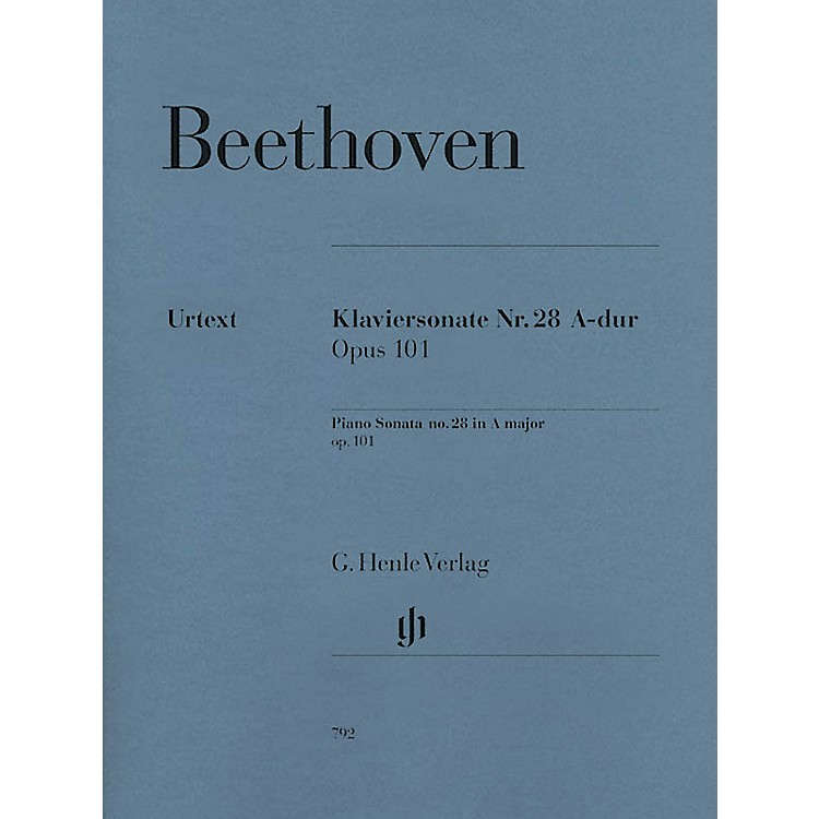 G. Henle VerlagBeethoven: Sonata No. 28 in A Major, Opus 101 (Revised Edition) Henle Music Folios Series Softcover