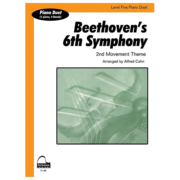 SCHAUMBeethoven's 6th Symphony (duet) Educational Piano Series Softcover