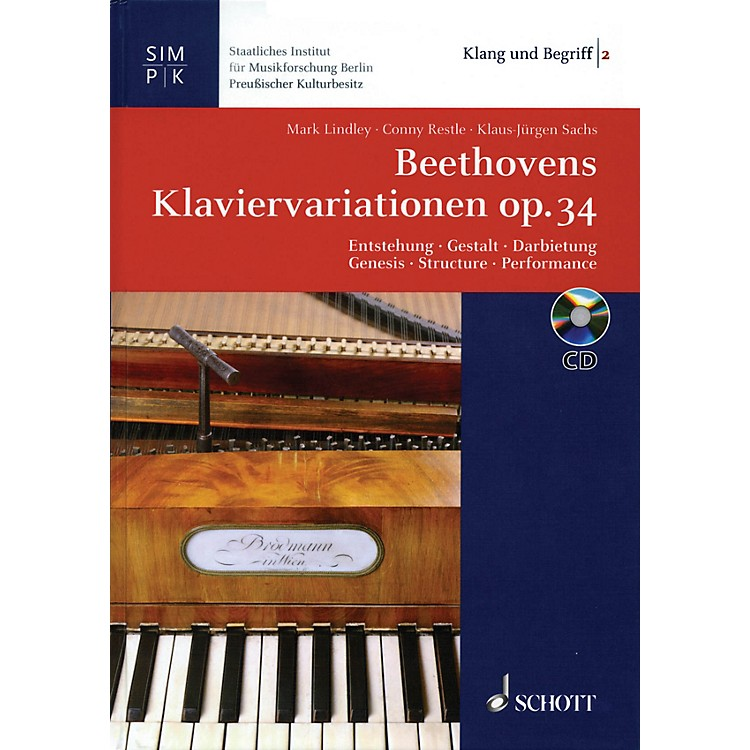 Schott Beethoven's Variations for Piano Op. 34 Misc Series Softcover with CD Written by Mark Lindley
