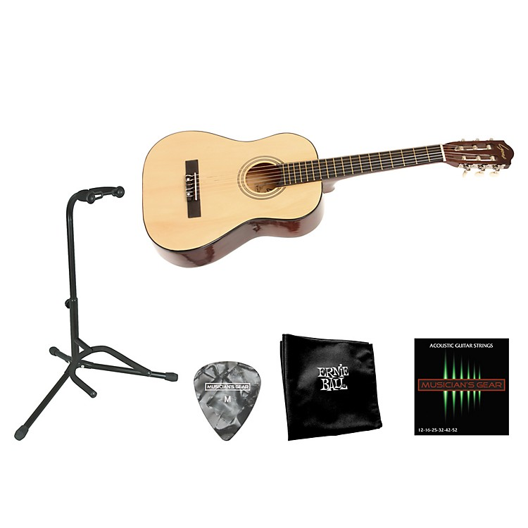 Lyons Beginner 1/2 Scale Nylon-String Guitar Bundle