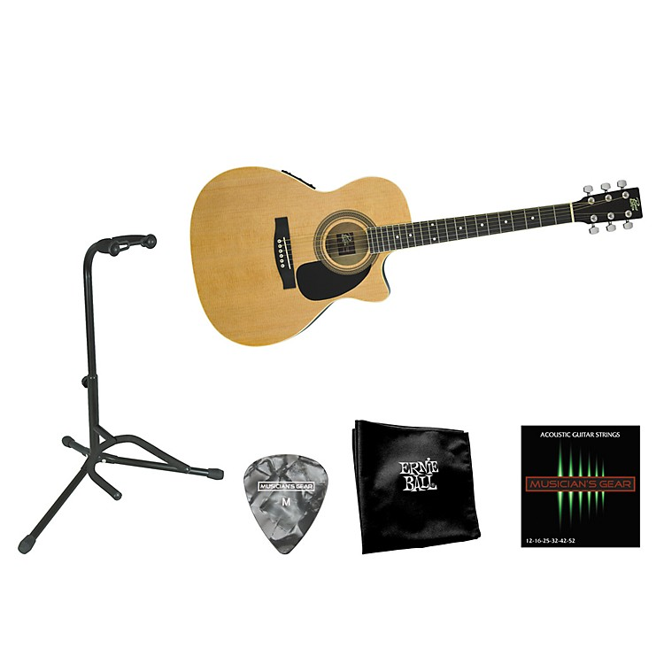 Rogue Beginner Acoustic-Electric Guitar Bundle