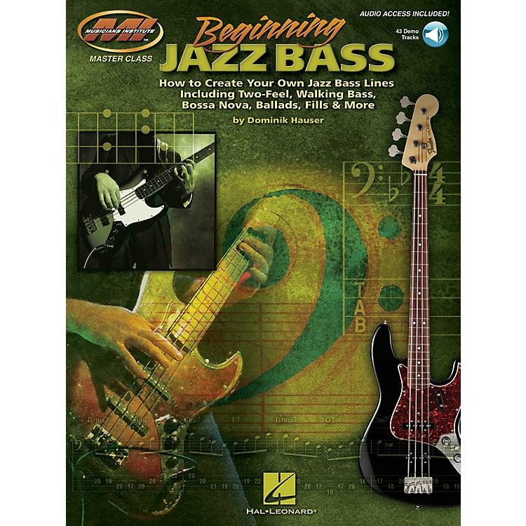 Musicians InstituteBeginning Jazz Bass Musicians Institute Press Series Softcover Audio Online Written by Dominik Hauser