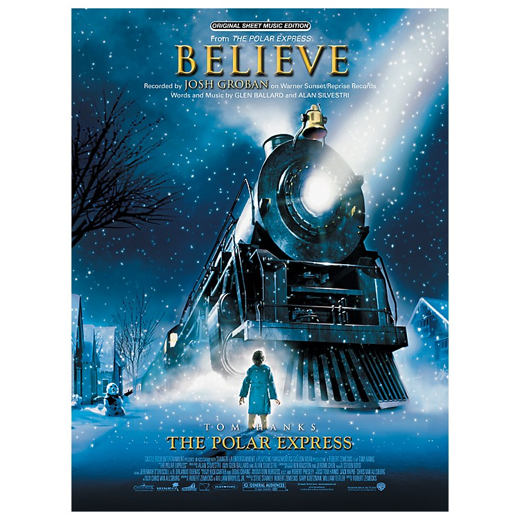 AlfredBelieve (from The Polar Express) Piano/Vocal/Chords Sheet
