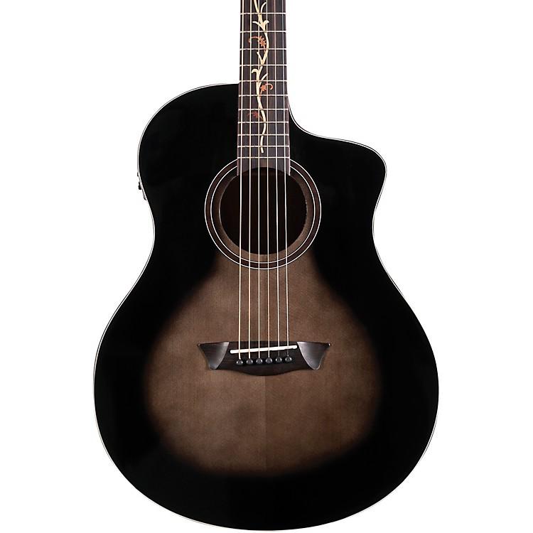 WashburnBella Tono Vite S9V Studio Acoustic-Electric GuitarTransparent Charcoal Burst