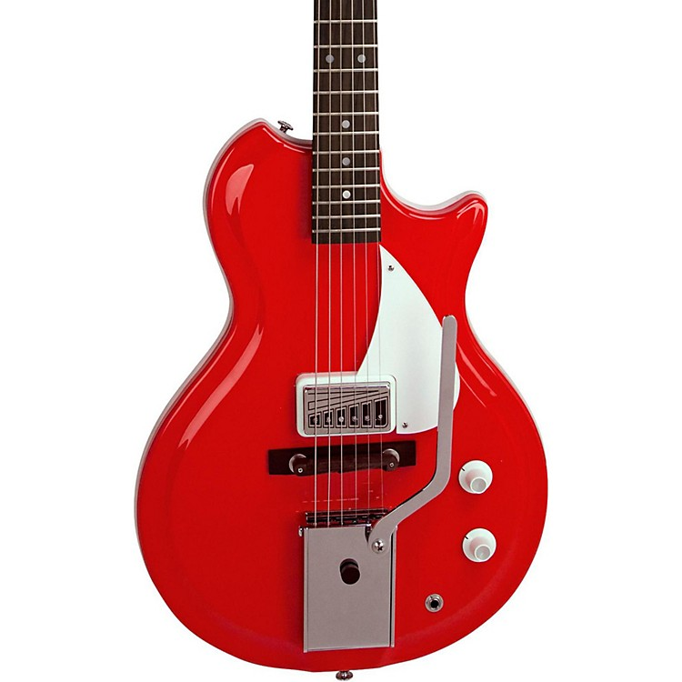 Supro Belmont Vibarato Semi-Hollow Electric Guitar Poppy Red