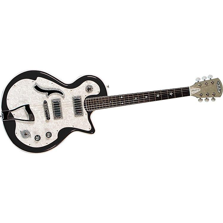 DiPintoBelvedere Deluxe Electric GuitarBlack and White