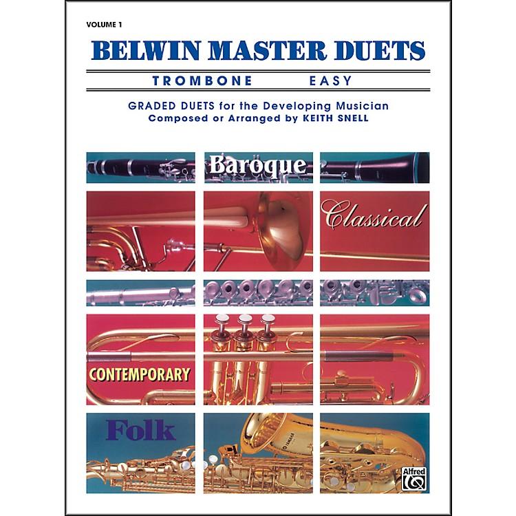 AlfredBelwin Master Duets (Trombone) Easy Volume 1