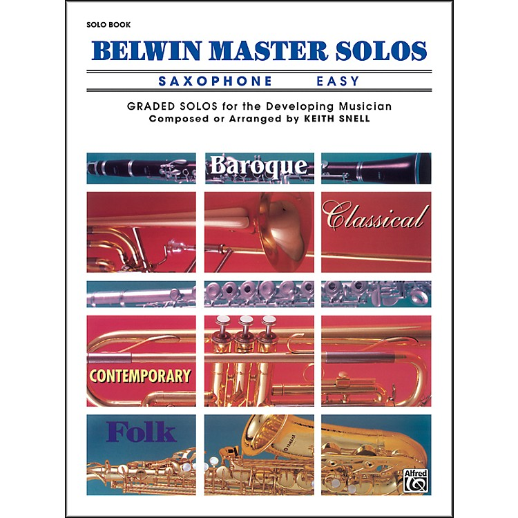AlfredBelwin Master Solos Volume 1 (Saxophone) Easy Solo Book Only