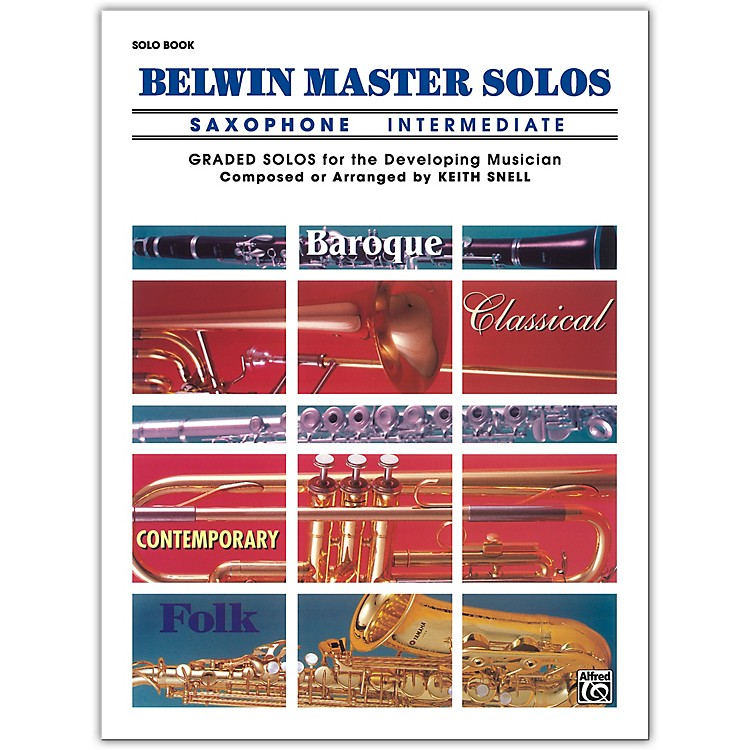 AlfredBelwin Master Solos Volume 1 (Saxophone) Intermediate Solo Book Only
