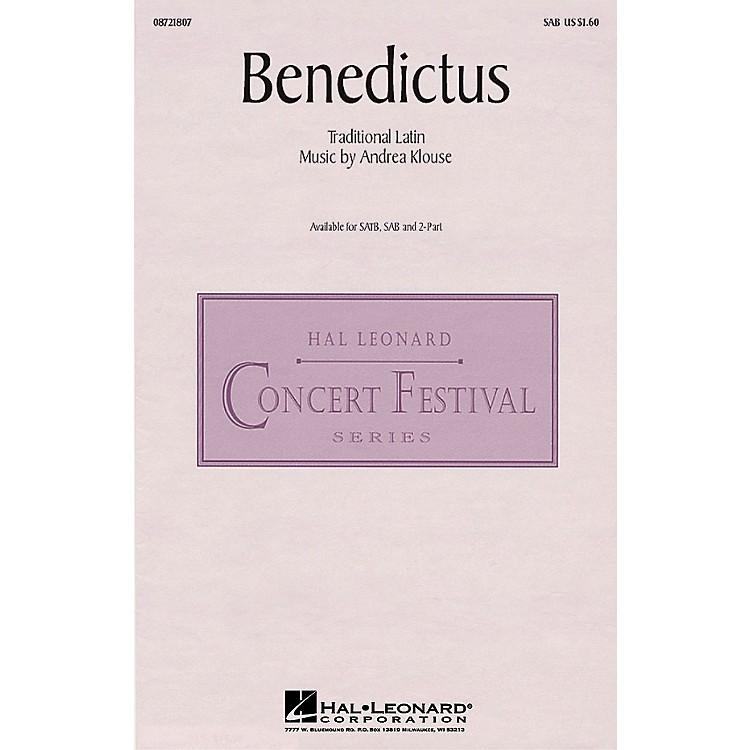 Hal LeonardBenedictus SAB composed by Andrea Klouse