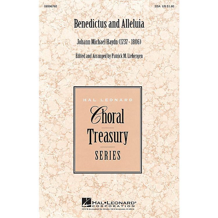 Hal LeonardBenedictus and Alleluia SSA arranged by Patrick M. Liebergen