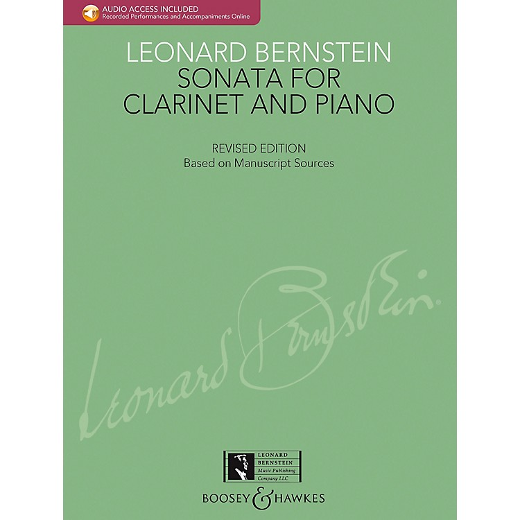 Boosey and HawkesBernstein - Sonata for Clarinet and Piano Boosey & Hawkes Chamber Music BK/CD by Leonard Bernstein