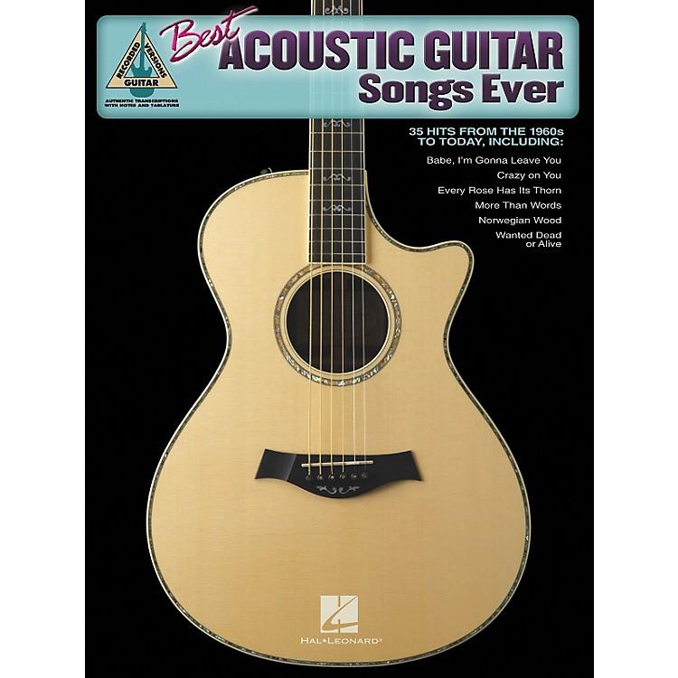 Hal LeonardBest Acoustic Guitar Songs Ever Guitar Tab Songbook