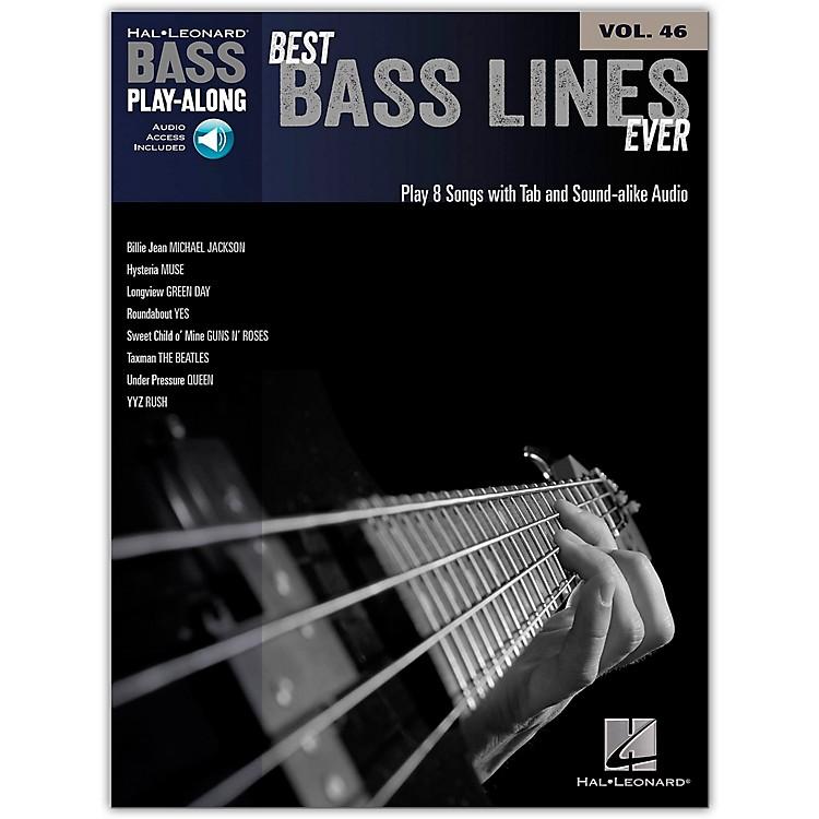 Hal LeonardBest Bass Lines Ever - Bass Play-Along Volume 46 Book/Online Audio