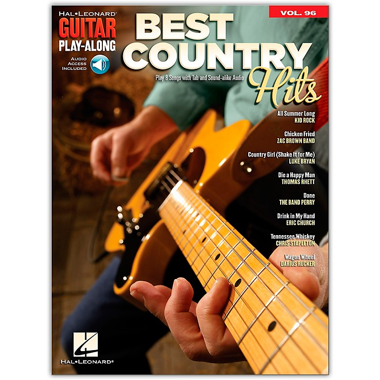 Hal Leonard Best Country Hits Guitar Play-Along Volume 96 Book/Audio Online