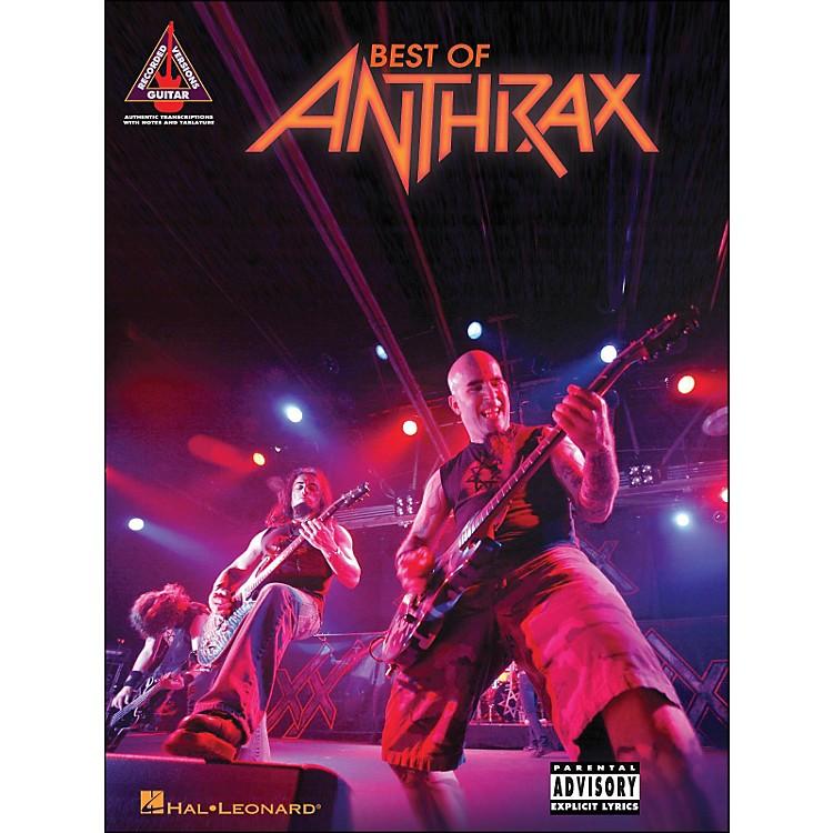 Hal LeonardBest Of Anthrax Guitar Tab Songbook